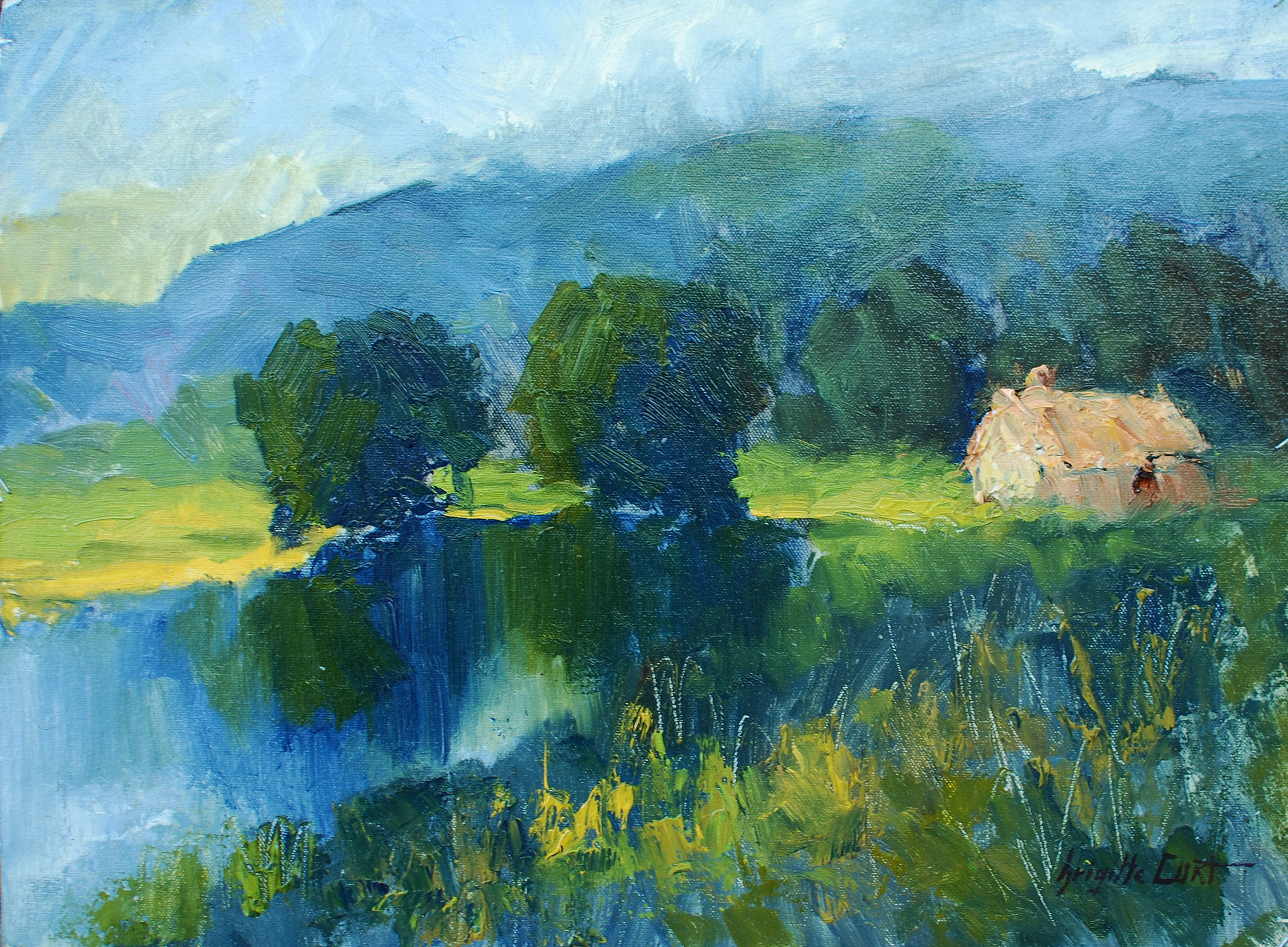 Cottage by the Lake 12 x 16.jpg