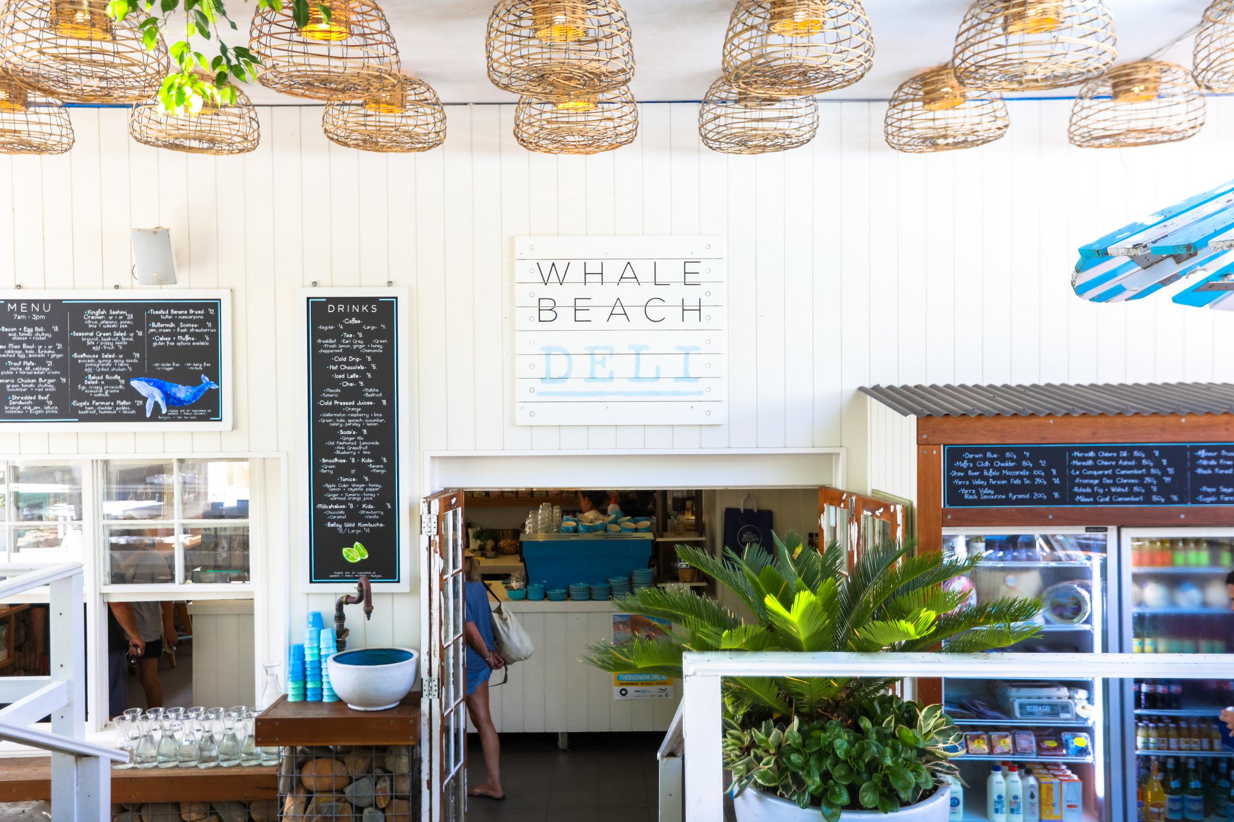 The Whale Beach Deli MenuN