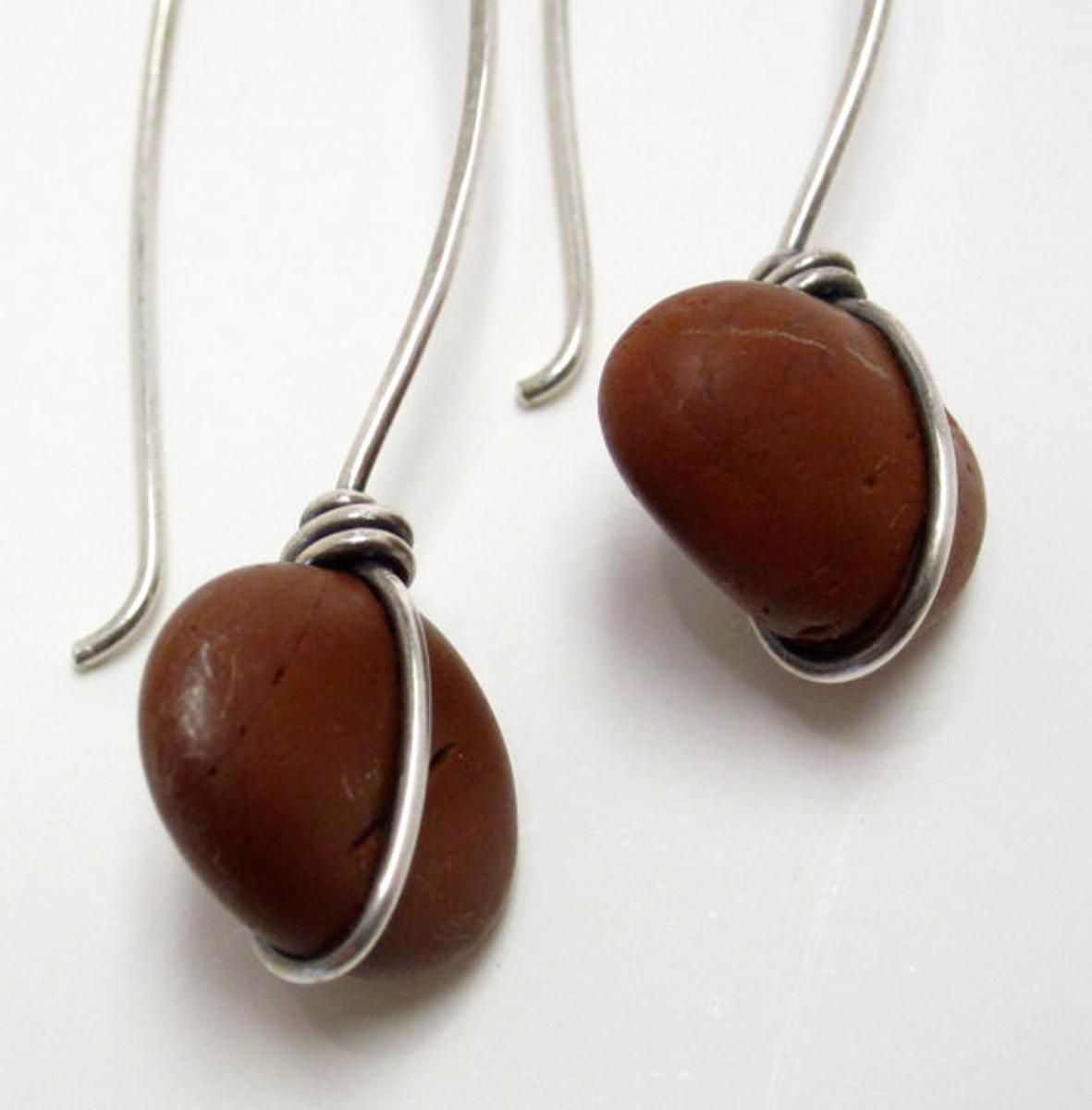 River and Ocean Rock Earrings