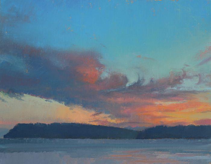 Clinton Clouds, oil, 11x14