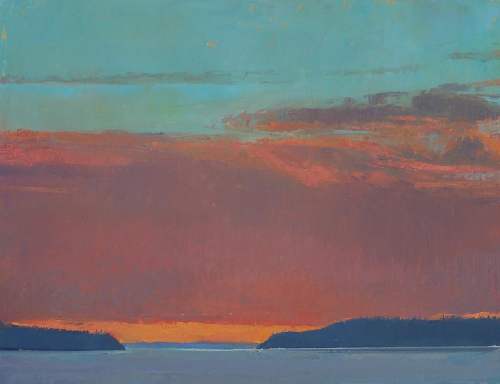 Red Clouds #2, oil, 11 x1 4