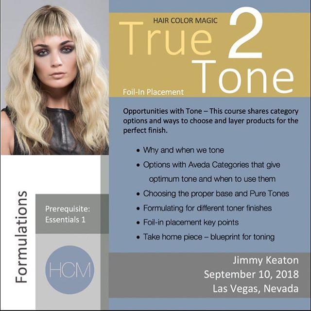 #HairColorMagic Class #True2Tone Las Vegas, NV with @jimmykeaton75 @aveda Monday, Monday, September 10, 2018  Enrollment avedapurepro.com  #💙❤️💛 #HCM #jimmykeaton75 #aveda
