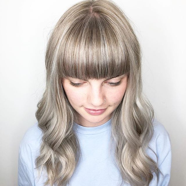 Monday Spotlight! #💙❤️💛 this by @hairbyamyrichards from @divacalgary Thank you for tagging #HCM #HairColorMagic #Aveda #LupeVoss #YourWorldInColor #NeverStopLearning @HairColorMagic @Aveda @LupeVoss Repost @hairbyamyrichards ・・・ Natural bright blonde highlights add to her pretty light brown hair, I do a mixture of babylites and balayage pieces so she can grow it out when she's back on the island for school • • • • • #bangs #fringe #backtoschoolhair #highlights #haircut #style #blondehair #haircolor #aveda #avedacolorist #divasouthcentre