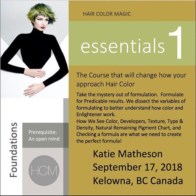 #HCM Essentials 1 with Katie Matheson @katiemathesoncolor in Kelowna, British Columbia  @aveda Monday, September 17, 2018  Enrollment avedapurepro.com  #💙❤️💛 #HCM #katiemathesoncolor #aveda