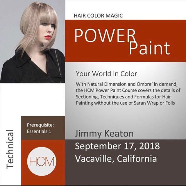 #HairColorMagic Class #PowerPaint Vacaville, CA with @jimmykeaton75 @aveda Monday, September 17, 2018  Enrollment avedapurepro.com  #💙❤️💛 #HCM #jimmykeaton75 #aveda
