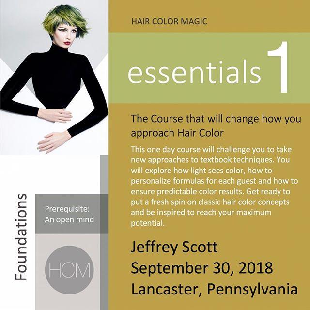 #HairColorMagic Class #essentials1 Lancaster, PA with Jeffrey Scott @jeffreyscottcolorist @aveda Sunday, September 30, 2018  Enrollment avedapurepro.com  #💙❤️💛 #HCM #HairColorMagic #jeffreyscottcolorist #aveda