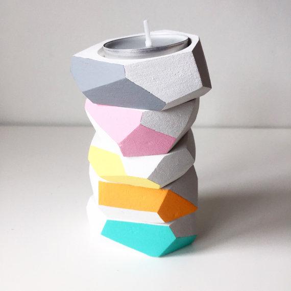 3. Betsy Rose: Geometric Tea Light Holder £9