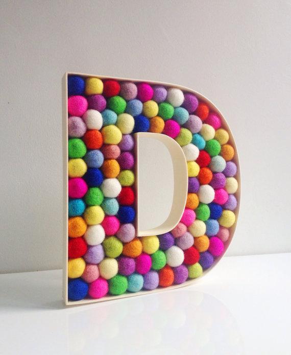 4. HoppsyDaisy: Felt Ball Nursery Letters £40