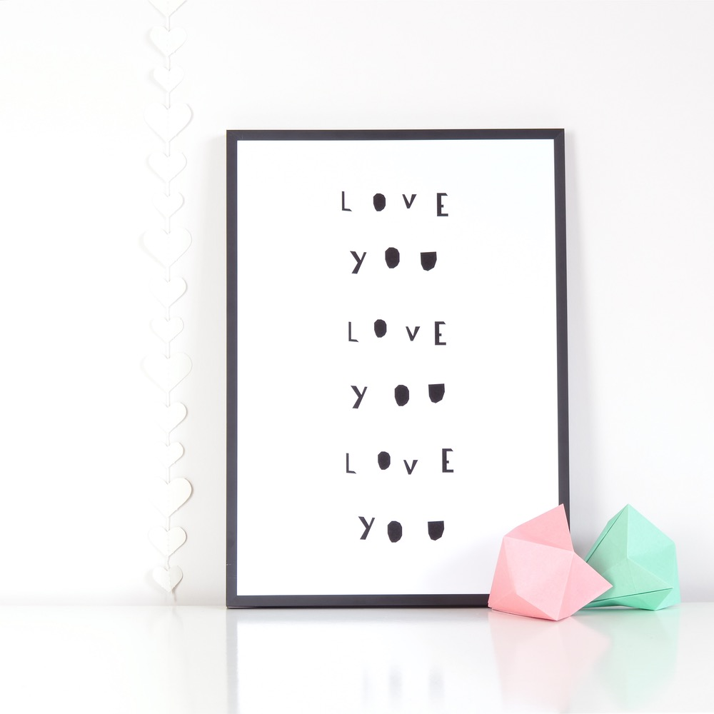 LOVE YOU LOVE YOU LOVE YOU! Beautiful print by artist and mama Ingrid Petrie. Use code: OHMAMA to get 10% off.