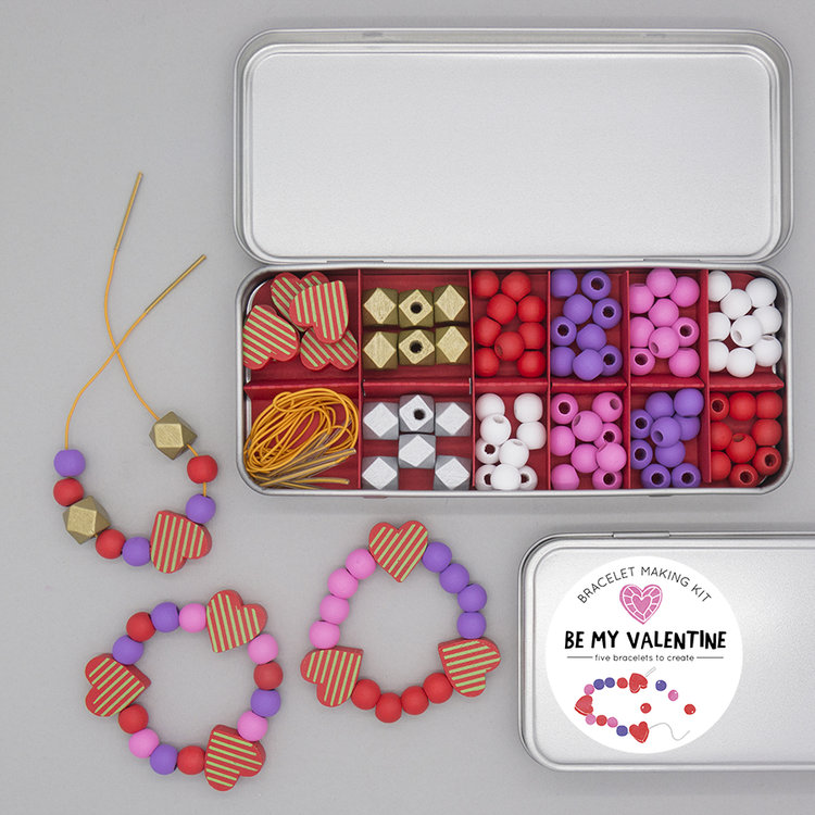 BE MY VALENTINE BRACELET MAKING KIT by mega mama duo Cotton Twist. Check out also their mini gift tin as well as activities galore to the kids entertained over half term. Use code MAMAHOOD2017 to get 10% off.
