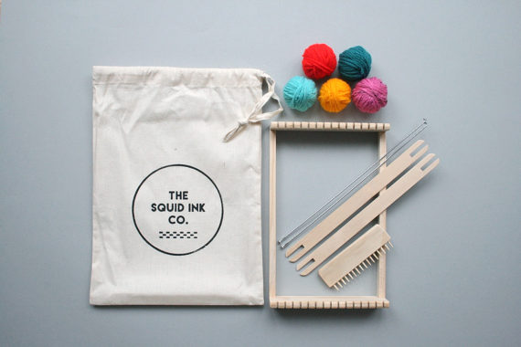 If you are a crafting fan you NEED to know about  Squid Ink Co . - run by weaver and mother maker Sarah. How ace is this weaving kit for beginners - plus you can buy in array of colourways. Love her paint your own plywood cactus kit too!. Perfect cool gift for kids!