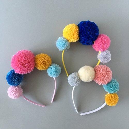 Pom Pom Headband: Sewcial Circle