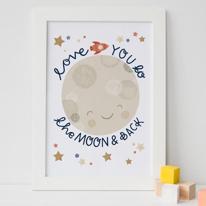 Moon Print: Lauren Radley