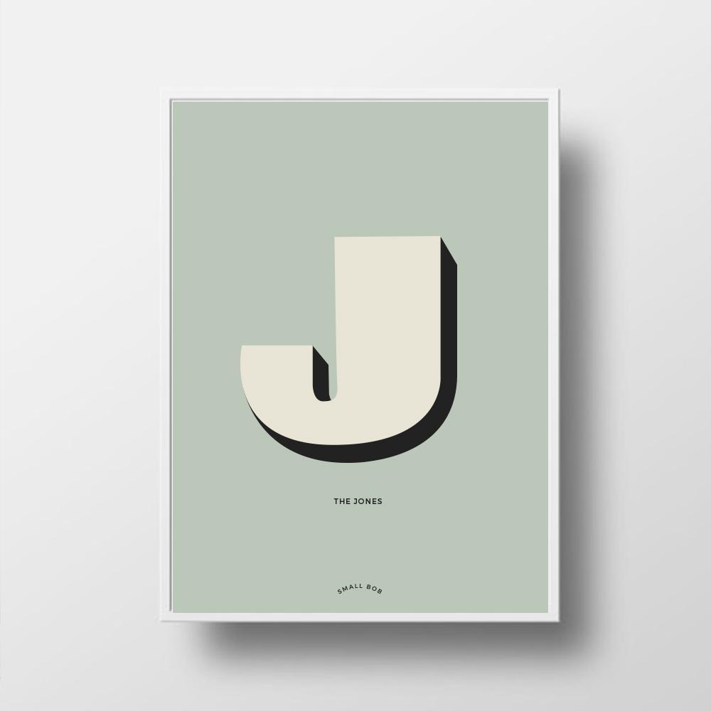Personalised Family Print: Small Bob