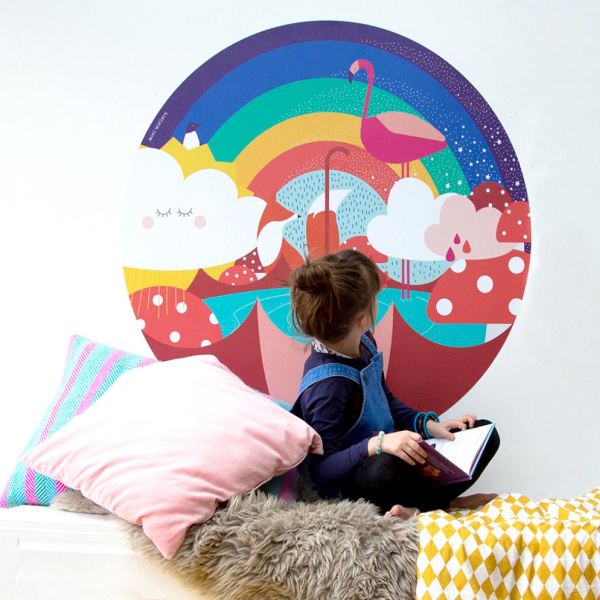 Rainbow wall decal : Mini Wallers