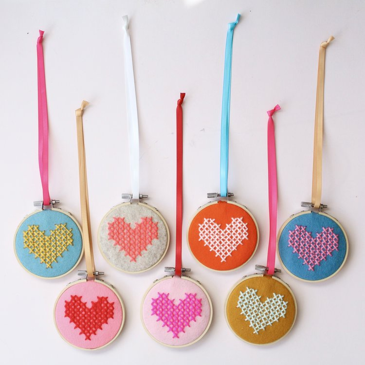 Cotton Clara: Cross-stitch Hearts