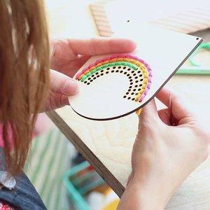 Rainbow Embroidery: Cotton Clara