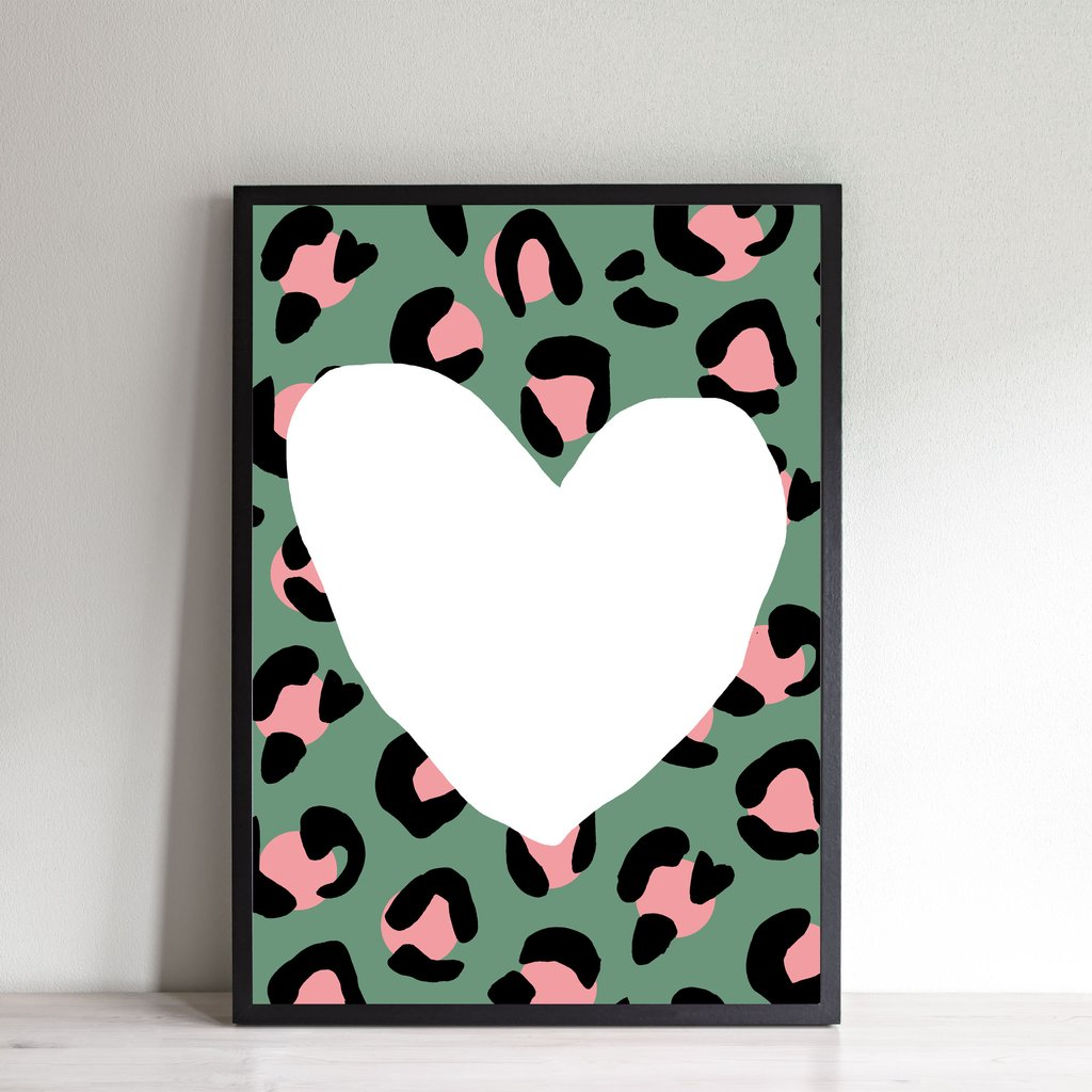 Wonder and Rah: Leopard Heart Print