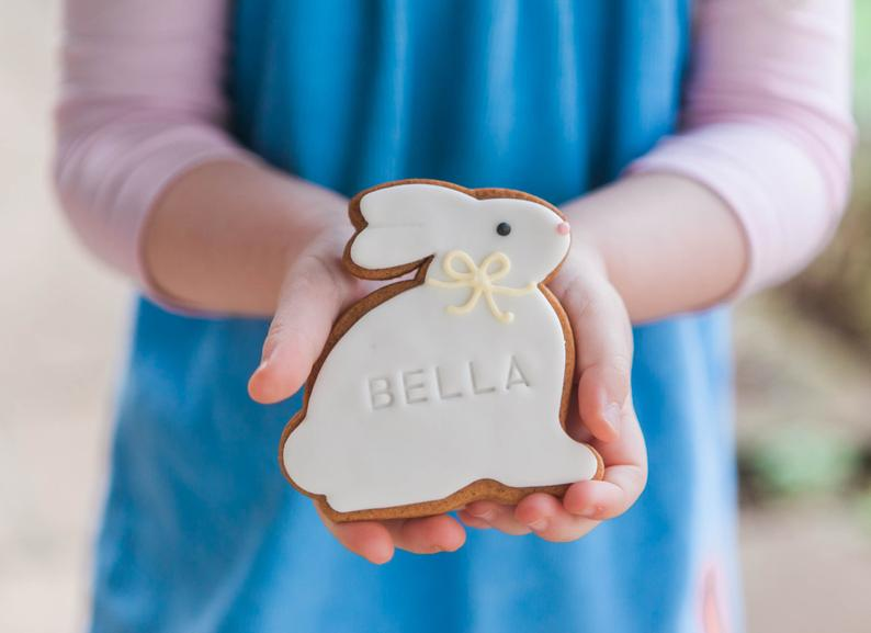 Easter Bunny Biscuit Gift - Honeywell Bakes