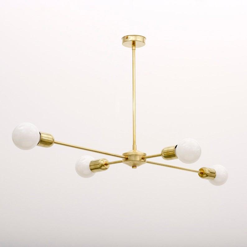 Brass Chandelier - Spark & Bell