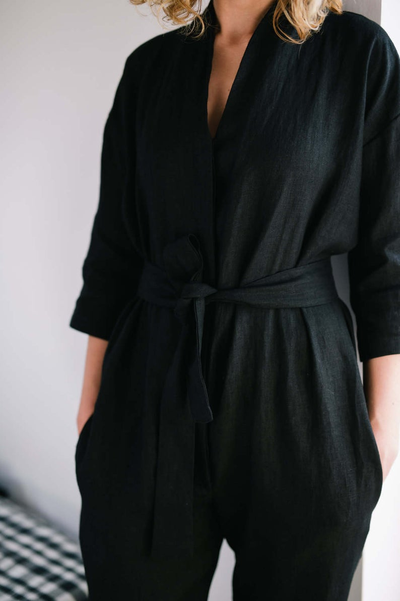 Linen jumpsuit - Off On Clothing