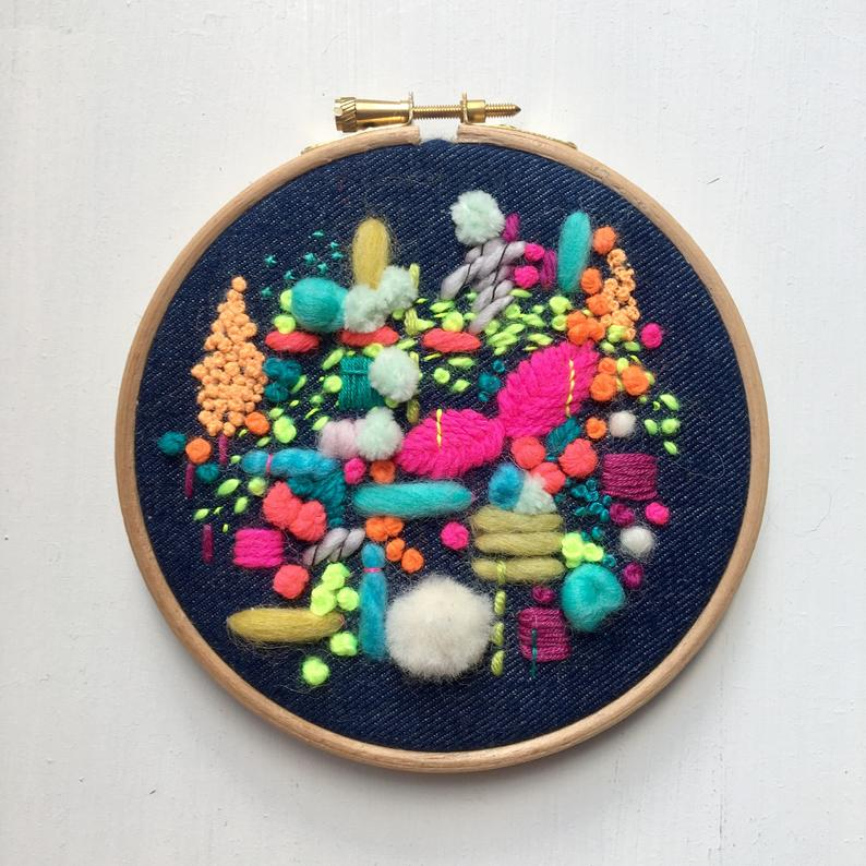 Embroidered Hoop - Wild Floss