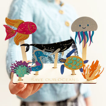 Personalised Save Our Oceans Craft Kit: Cotton Twist