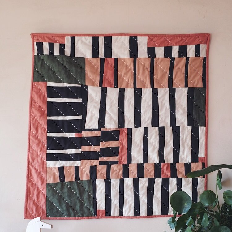 Slow-stitched one of a kind quilts: Cutts & Sons