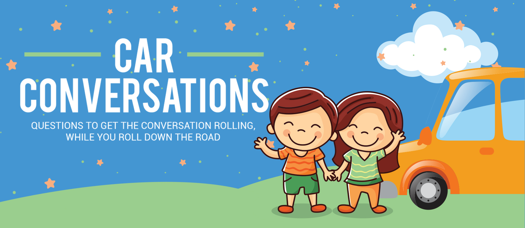 When your family hits the road for some summer fun take along these car conversation starters! Learn about one another while taking turns asking and answering. Make your summer time count as you focus on making some memories and finding out new things about one another.