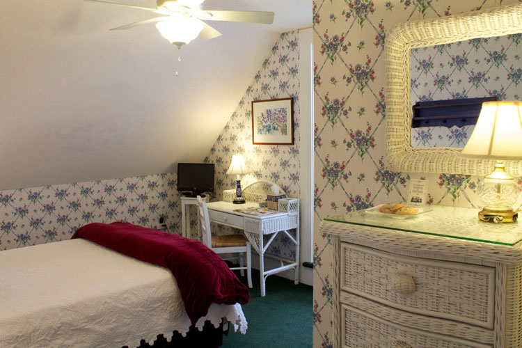 The TOWER- Room 12 with Queen Bed, Lake Views, Private Bath across Hall- THE WILLARD STREET INN, A VERMONT B&B
