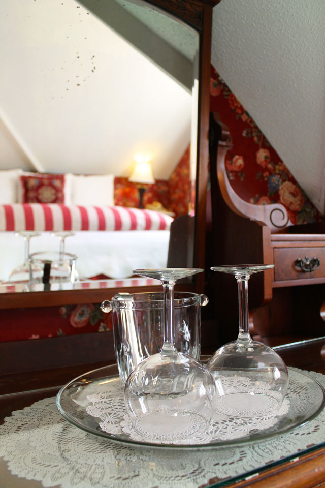 Glassware is provided by the Willard Street Inn so you can relax and enjoy your stay in Burlington, VT