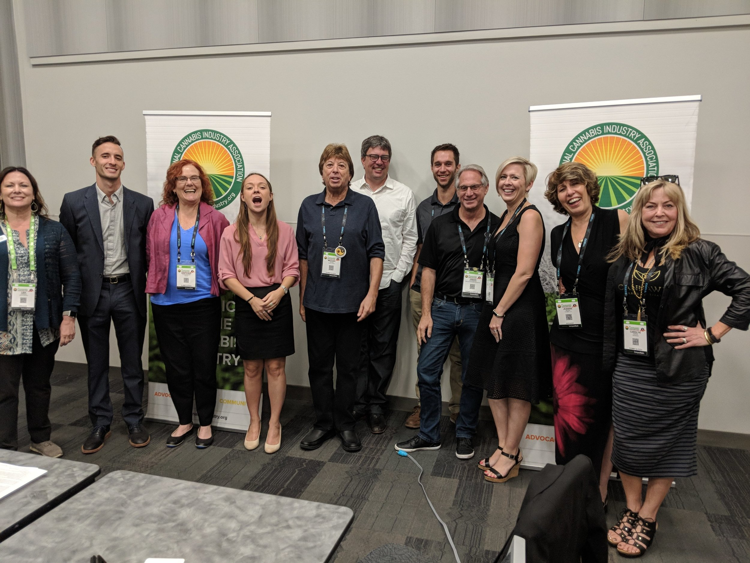 The 2018-19 NCIA Marketing & Advertising Committee (that's Robert, the new chairman,in the middle).