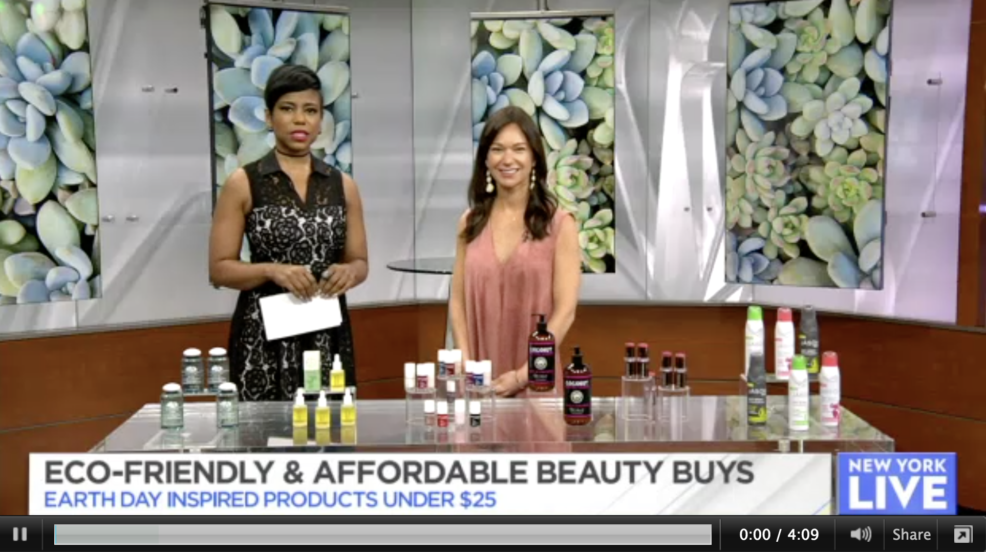 NBC New York Live: Eco-Friendly Beauty Buys Under $25