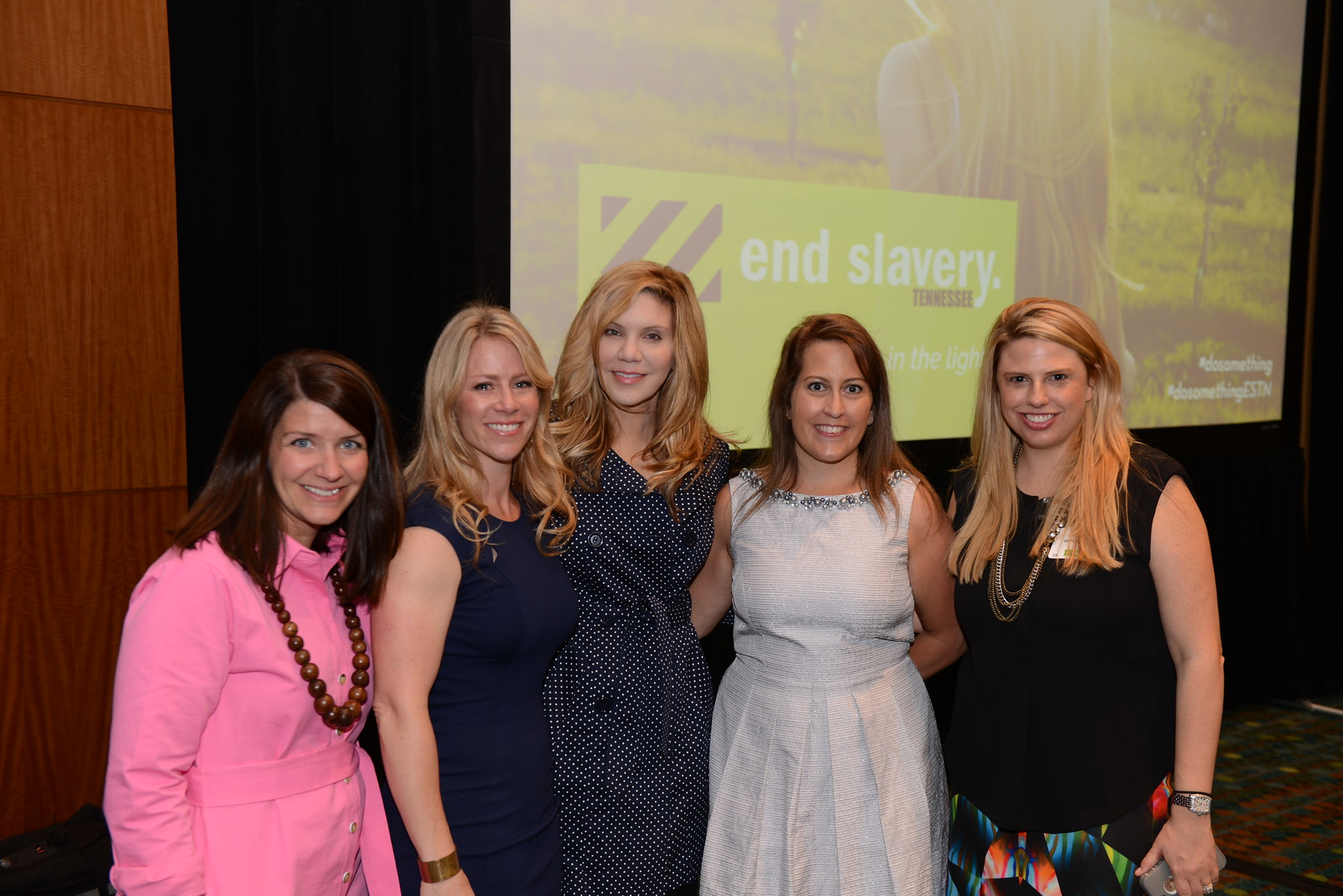 Alison Kruass with Luncheon Event Committee. Pictured from left to right: Callen Martin, Brandi Binkley, Alison Krauss, Christy Pennington, Whitney Akin