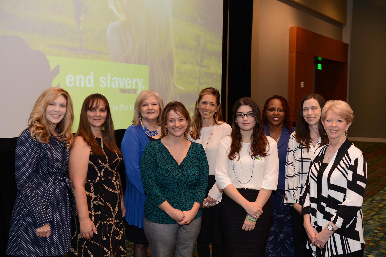 ESTN staff with Alison Krauss. Pictured from left to right: (back row)Alison Kruass, Shelia McClain, Derri Smith, Ondrea Johnson, Yvette White (front row) Jennifer Settle, Laura Courtney, Angela Shofner, Karen Karpinski