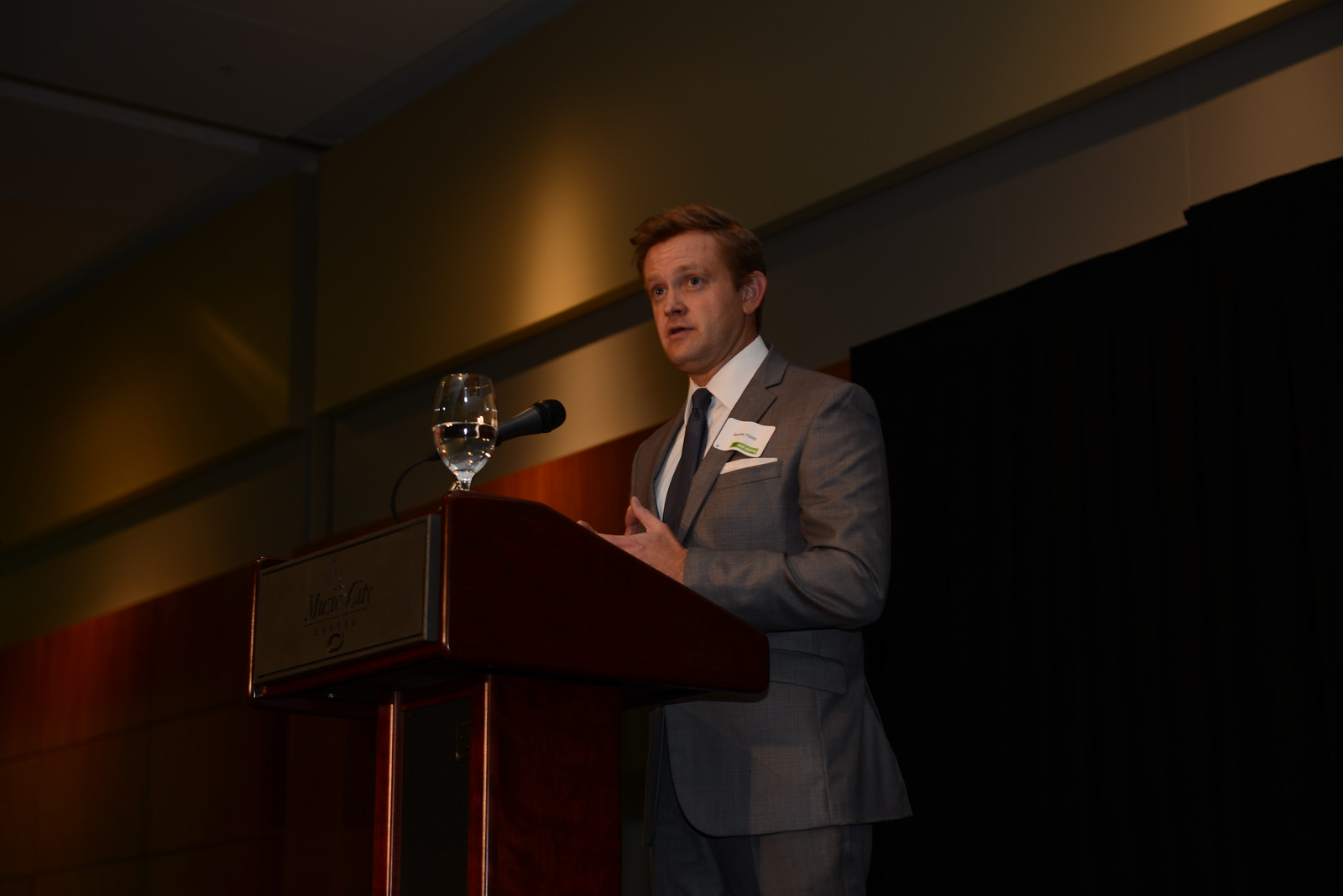 Event emcee, Jeremy Finley