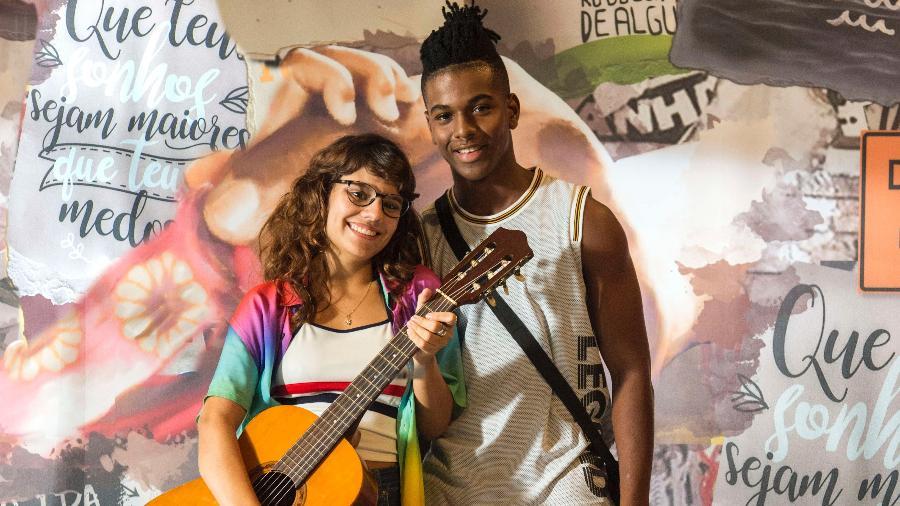 """Raíssa (Dora de Assis) e Camelo (Ronald Sotto), do elenco de """"Malhação - Toda Forma de Amar"""".  Imagem: Estevam Avellar/Globo"""