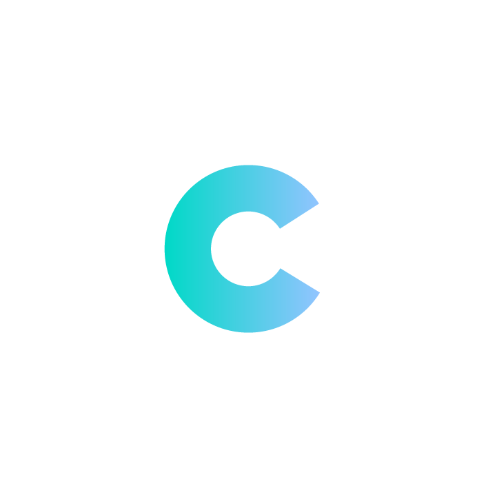 """C"" with white Border"