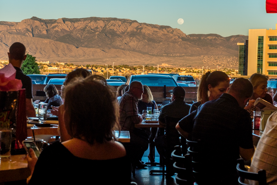 The patio is open at M'tucci's Moderno, perfect for Happy Hour, Sunsets and Moonrise.