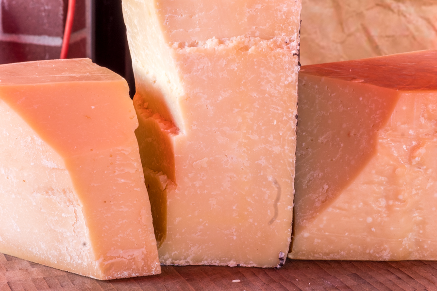 Grana Padano, Pecorino Romano and Parmigiano-Reggiano.
