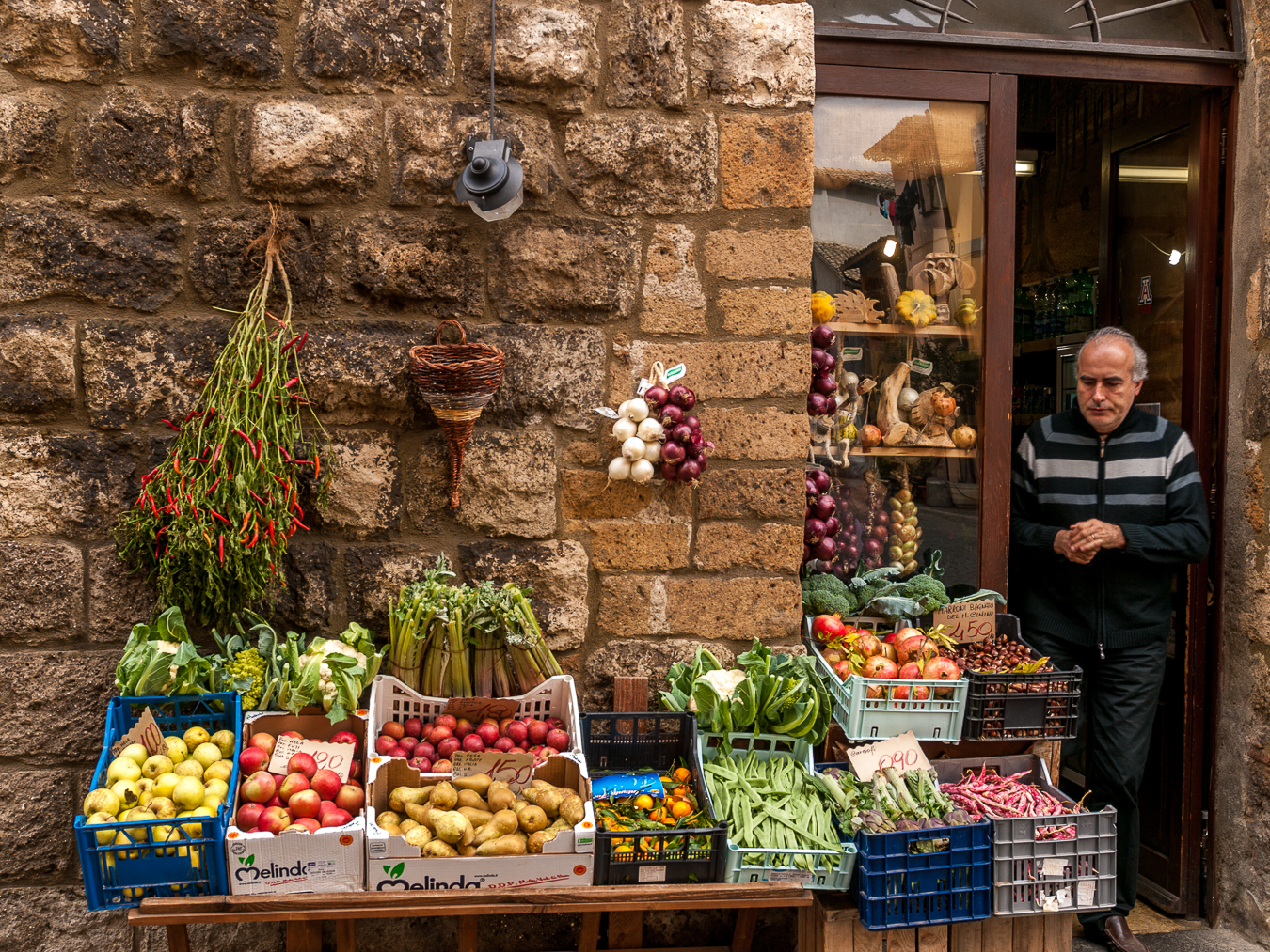 A small market in Tuscany