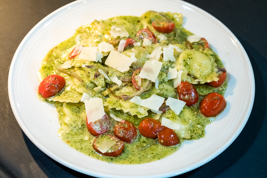 Pesto Ravioli - only at M'tucci's Moderno