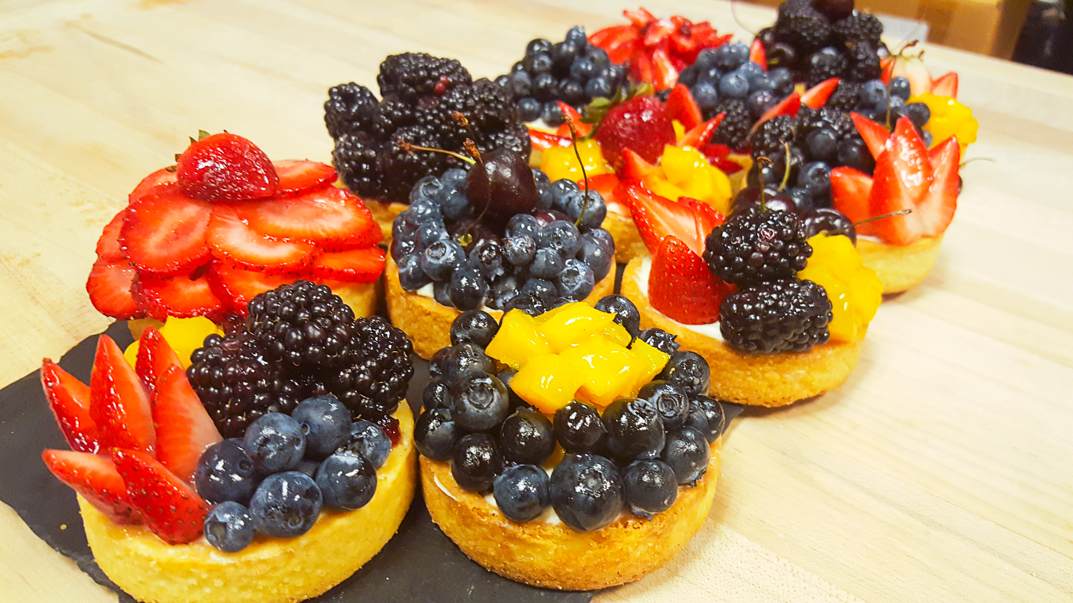 Lauren created Fresh Fruit Tarts with Mascarpone Cream. In Italy and at all M'tucci's it's all about fresh.