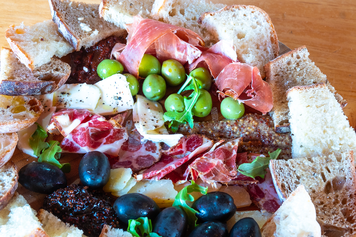 Building a BIG Charcuterie Board to go at M'tucci's Italian Cafe & Market