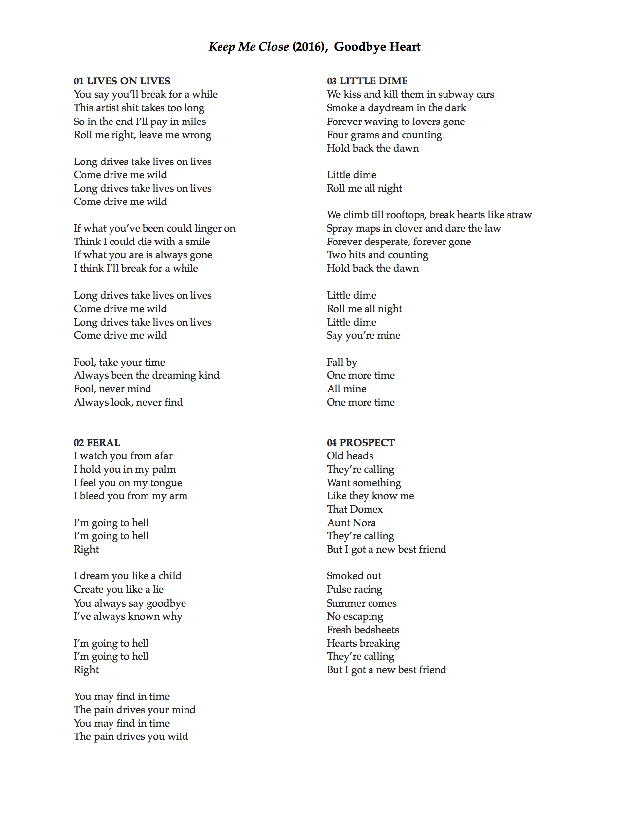 keep me close lyrics 1-4