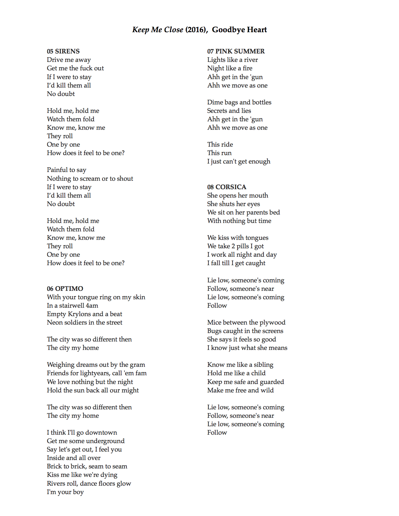 keep me close lyrics 5-8