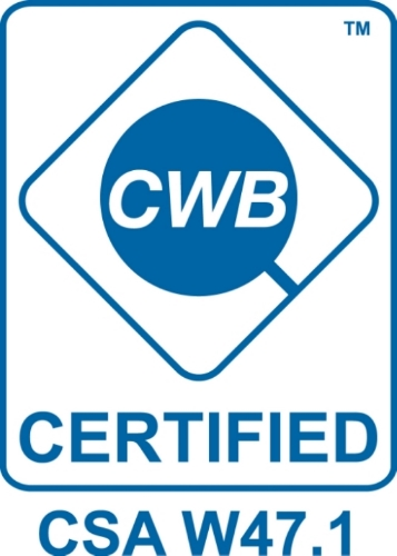 CWB 47.1 Certified for Fusion Welding of Steel