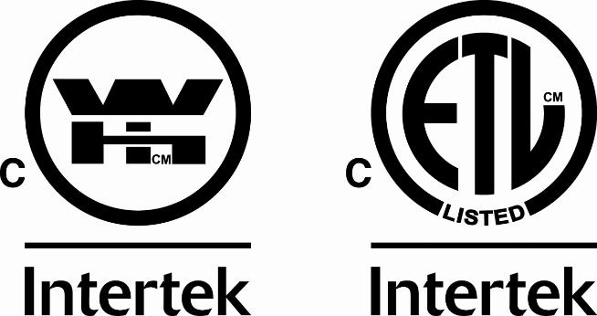 Certified with Intertek BC