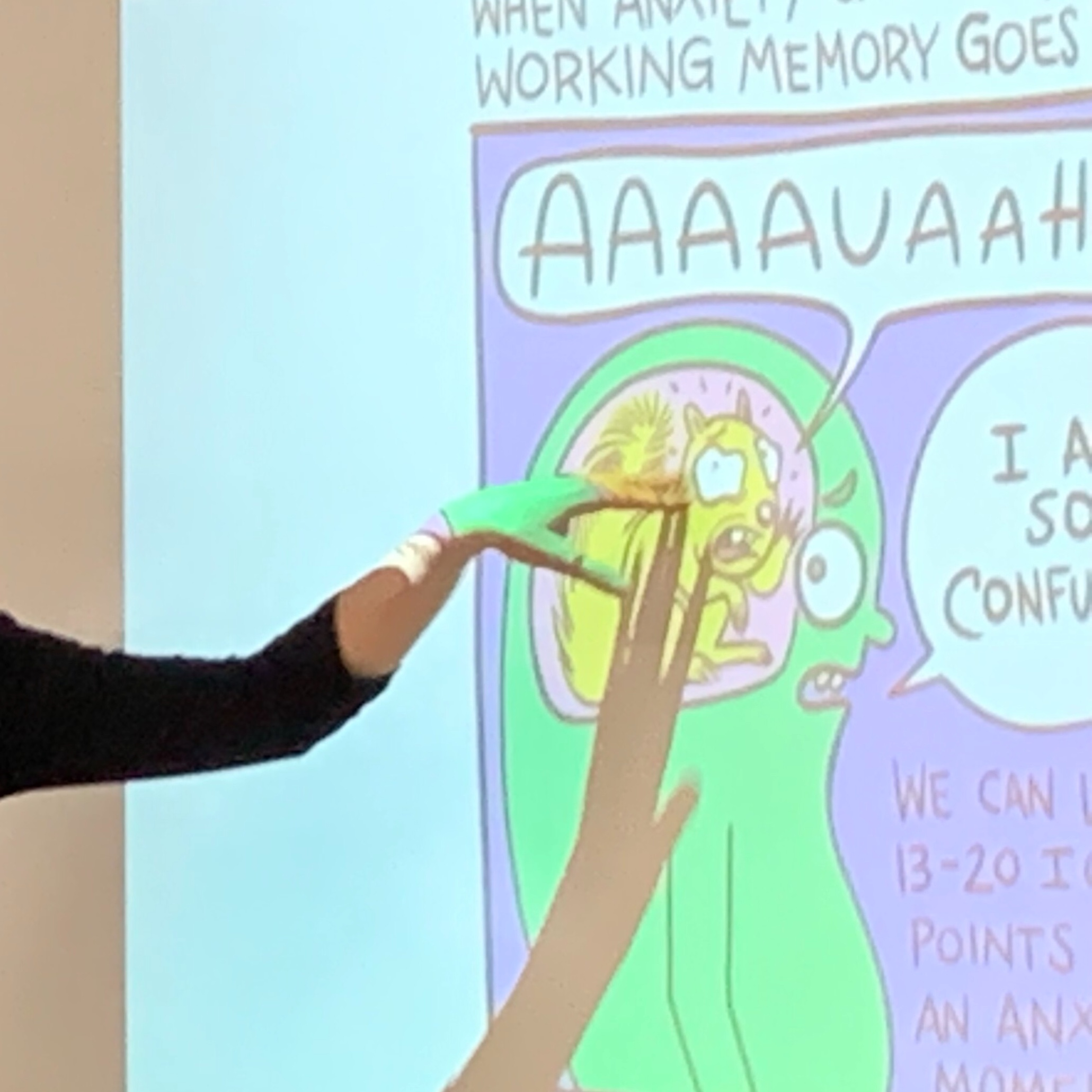 Our anxiety can get in the way of learning because it can inhibits our memory.
