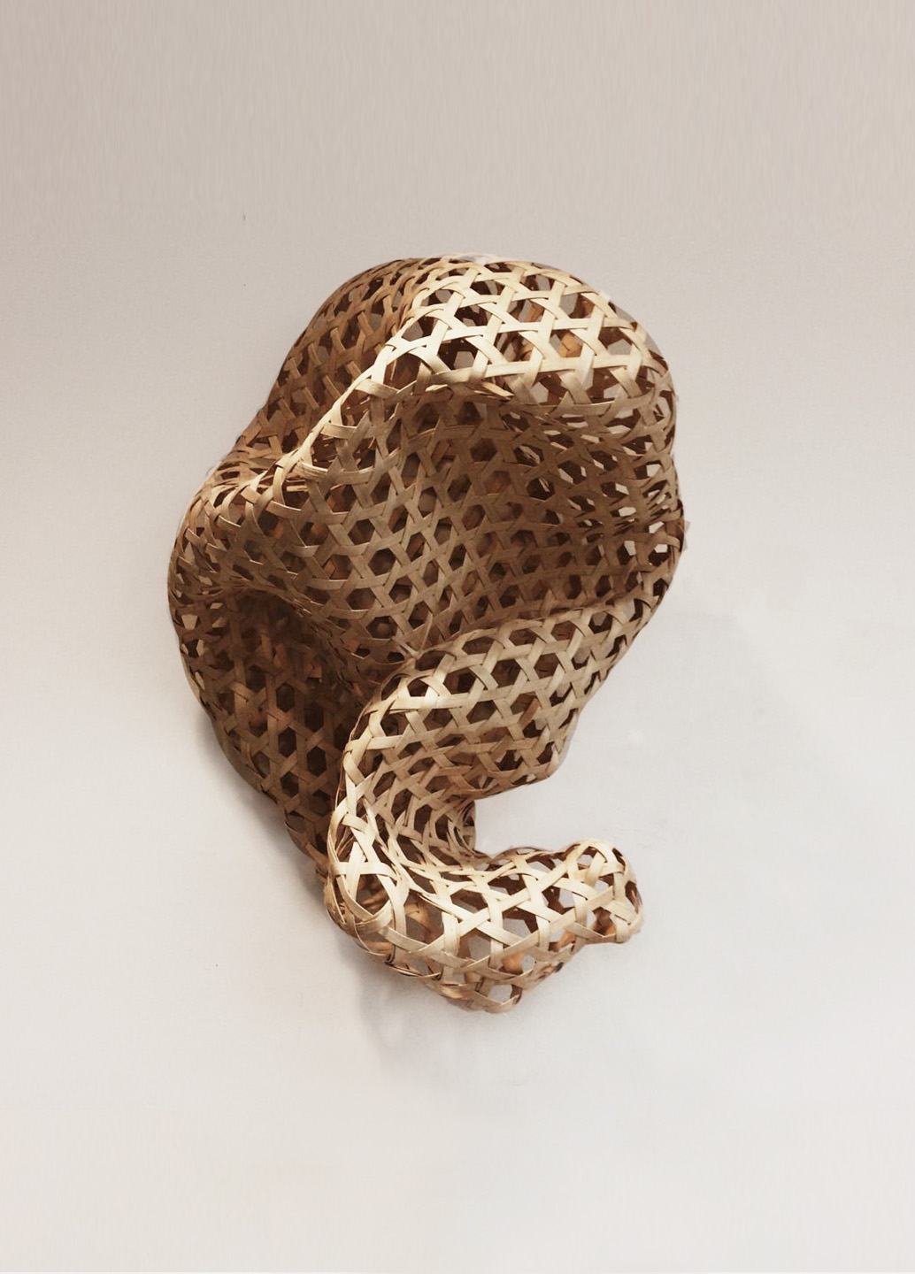 Enam (Six)  2015 Hexagonal weave using reed
